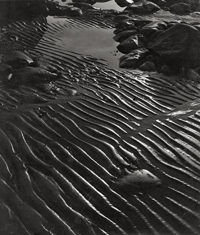 beach (ripples in sand) by herbert matter