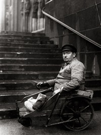 the painter otto dix; the dadaist raoul hausmann (2 works) by august sander