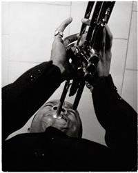 lee morgan, trumpet, ridge crest inn, rochester, new york (2 works) by paul hoeffler