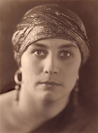 portrait of the german actress nora brand by lucie koellich