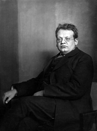 portrait of the composer max reger by theodor hilsdorf