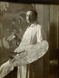 portrait of the painter thomas theodor heine (1867 - 1948) by theodor hilsdorf