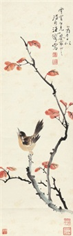 红叶小鸟 by wang rong