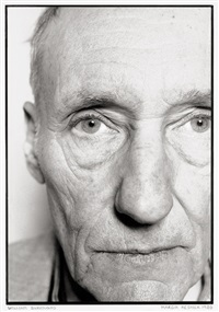 portrait of william s. burroughs, new york by marcia resnick
