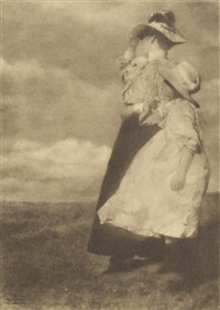 windblown and 13 others (14 works) by heinrich kühn