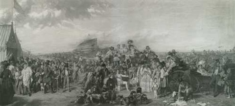 the derby day after wpfrith by auguste blanchard