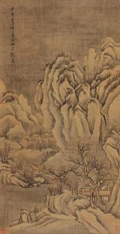 仿王摩诘山水 by liu du
