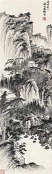 松壑幽居 立轴 水墨纸本 by xiao xun
