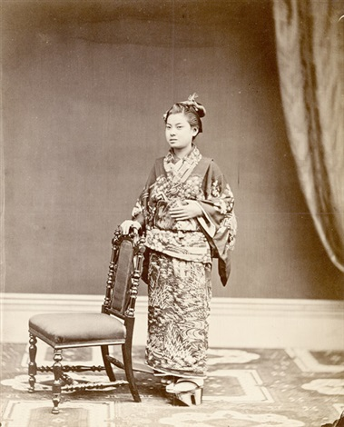 studio portrait of a japanese moonsmi woman hong kong by william pryor floyd