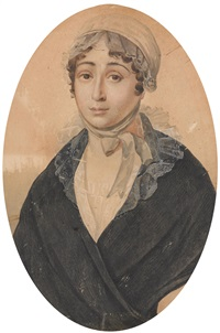 portrait of olimpiada semenovna turchaninova by petr fedorovich sokolov