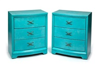 three-drawer chests (pair) by grosfeld house