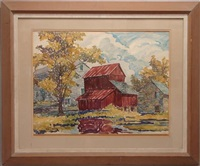 farm scene by william weldon swallow