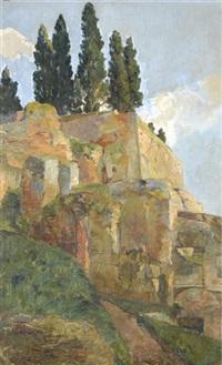 ruinenlandschaft bei rom by ernst linck