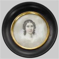 porträt einer jungen dame by louis ami arlaud-jurine