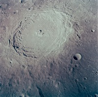 the crater langrenus from lunar orbit, apollo 8 by william anders