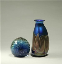 vase (+ paperweight; 2 works) by josh simpson