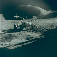 james irwin at the rover, apollo 15 by david scott