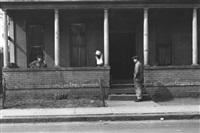 men sitting around, detroit, michigan by edwin locke