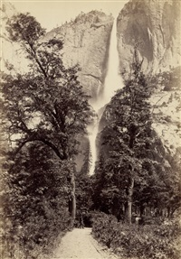 yosemite falls (+ 1,000 mile tree, weber canon, utah; 2 works) by isaiah west taber