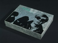 andy warhol (tin box w/various photos, silkscreens and vhs video tape) by nat finkelstein