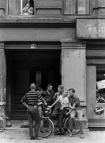 group of teenagers berlin kreuzberg gendarmenmarkt east berlin 2 works by klaus lehnartz