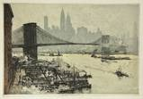 view of brooklyn bridge with manhattan in the background by luigi kasimir