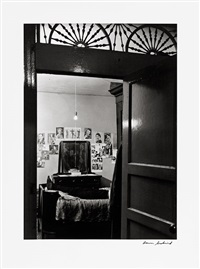 harlem, bedroom through doorway by aaron siskind