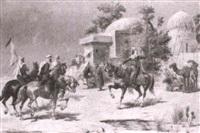 arab horsemen by c. mérion