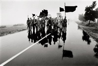 protest march against aircraft noise of hahn air force base in hunsrück, july 11, 1969 by michael ruetz