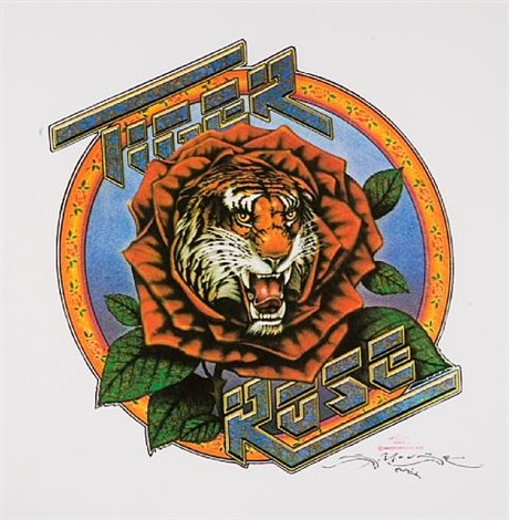 Tiger rose album art prototype for Robert Hunter by Alton