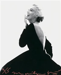 marilyn monroe in black dress (from the last sitting for vogue) by bert stern