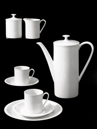 porcelain coffee service (designed by heinrich löffelhardt) (4 works) by willi moegle
