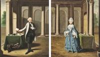 paar porträts eines vornehmen herrn und einer eleganten dame by johann faber