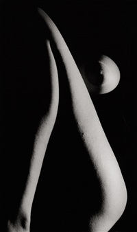 female nude in shadow by ladislav postupa