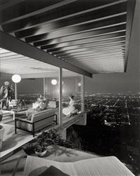 case study, house # 22, designed by pierre koenig, los angeles, california by julius shulman