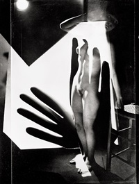 composition (nude montage with gloves) by maurice tabard