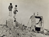 children playing in ruins, vienna, after world war ii by david 'chim' seymour