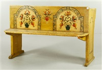 painted schoolhouse desk by ralph eugene cahoon jr.