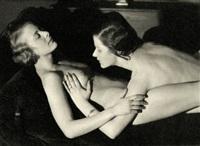 two female nudes by heinz von perckhammer