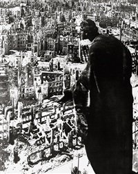 dresden/blick vom rathausturm (dresden 1945/view from the city hall tower) by richard peter sr.