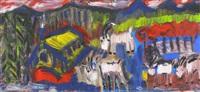 vier ziegen auf der alp by rené gertsch