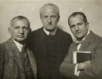 gerhart hauptmann, karl-heinz martin and dr. kahane by hans natge