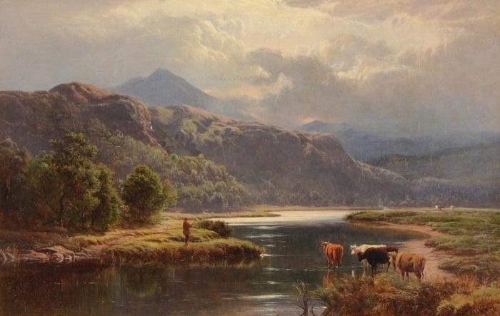 landschaften mit vieh und staffage nord wales pair by sidney richard percy