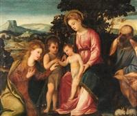 die mystische vermählung der hl. katharina by bonifazio de pitati