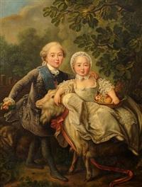 charles philippe de france, comte d'artois, et sa söur madame clothilde by françois hubert drouais