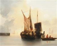 segelschiffe im hafen by antonie waldorp