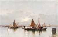 fischerboote in der lagune by a. kaufmann
