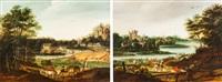 zwei flämische landschaften mit figurenstaffage (pair) by anonymous-flemish (18)