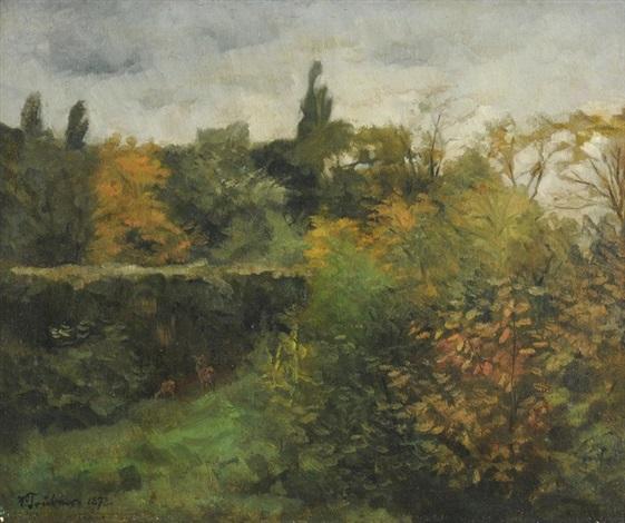 waldlandschaft by wilhelm trübner