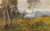 zwei voralpine landschaften (2 works) by gioachimo galbusera